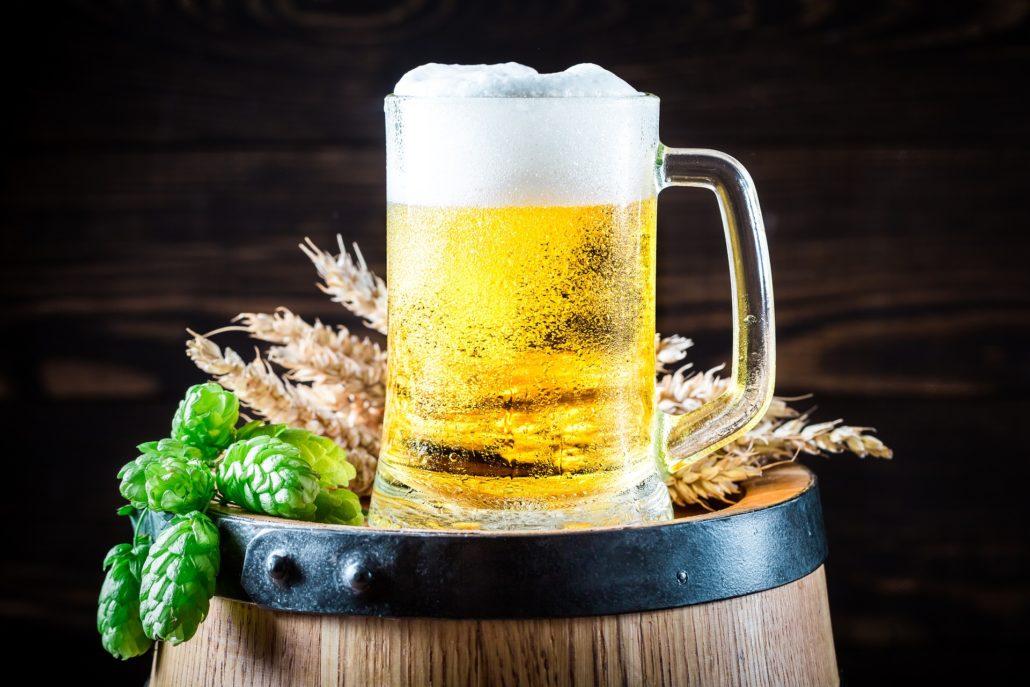 Bier enthält Getreide