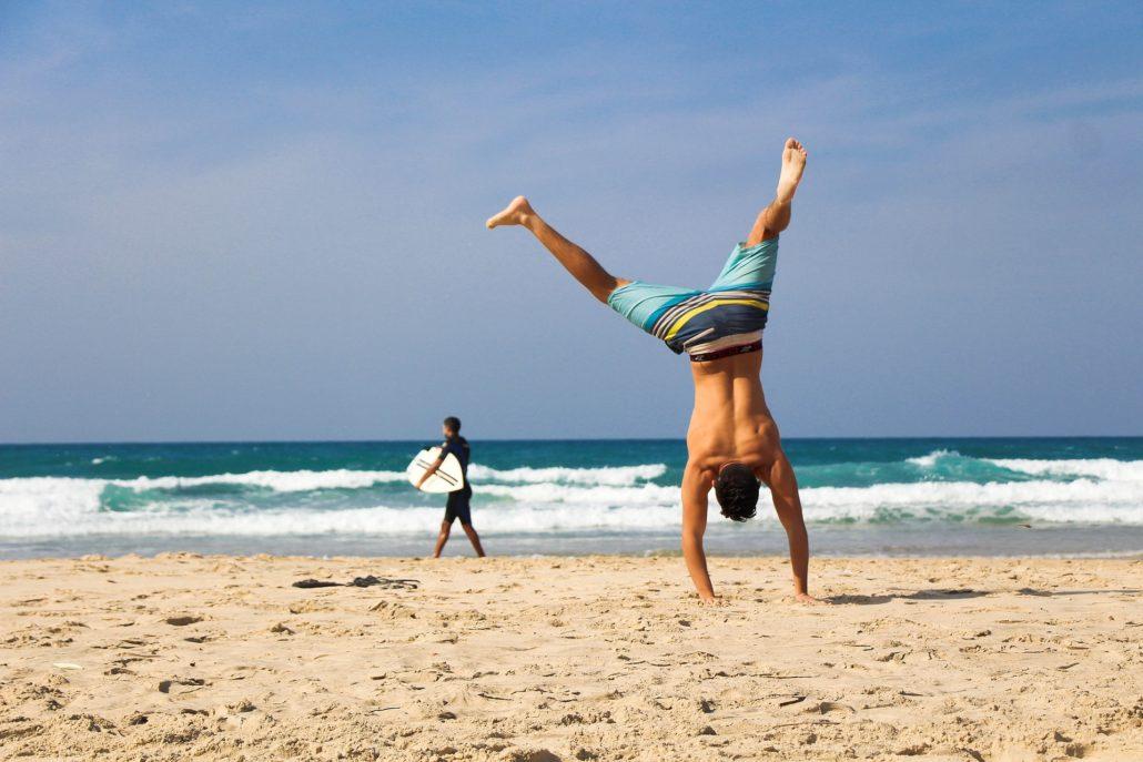 Training am Strand